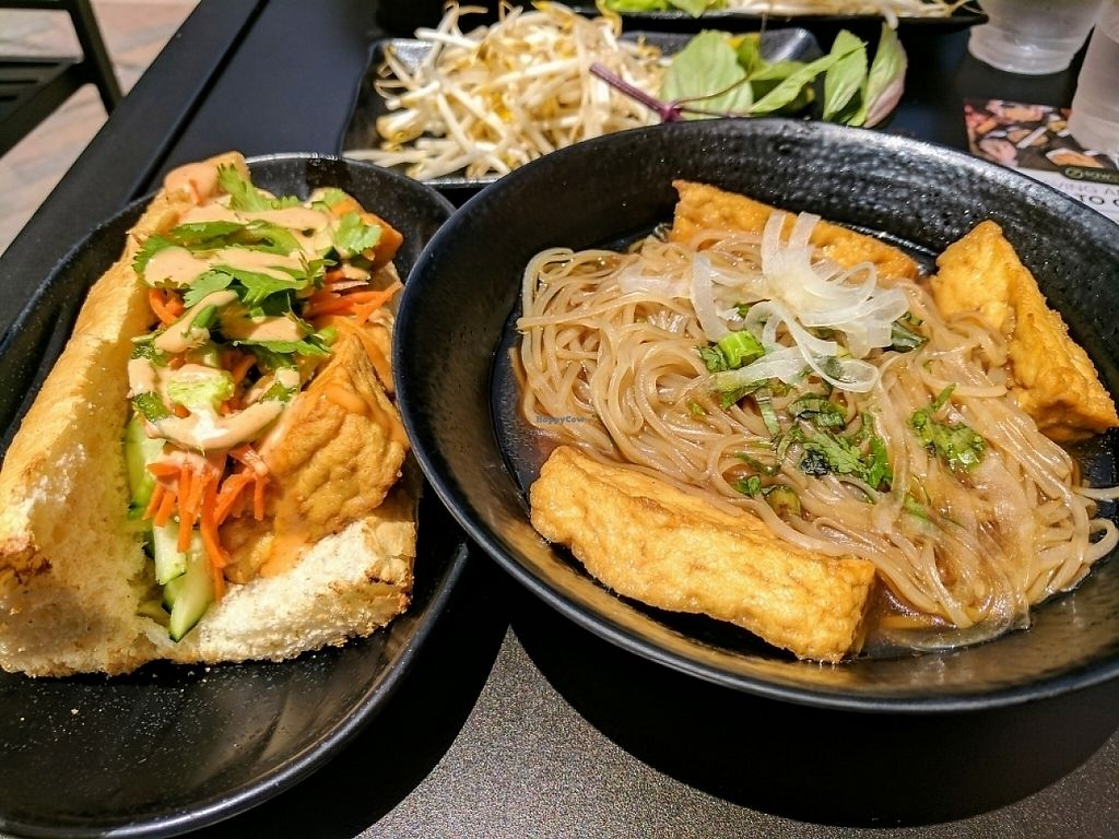"""Photo of Sawleaf Vietnamese Cafe  by <a href=""""/members/profile/Bgilly"""">Bgilly</a> <br/>Tofu pho and banh mi <br/> May 30, 2017  - <a href='/contact/abuse/image/93123/264318'>Report</a>"""