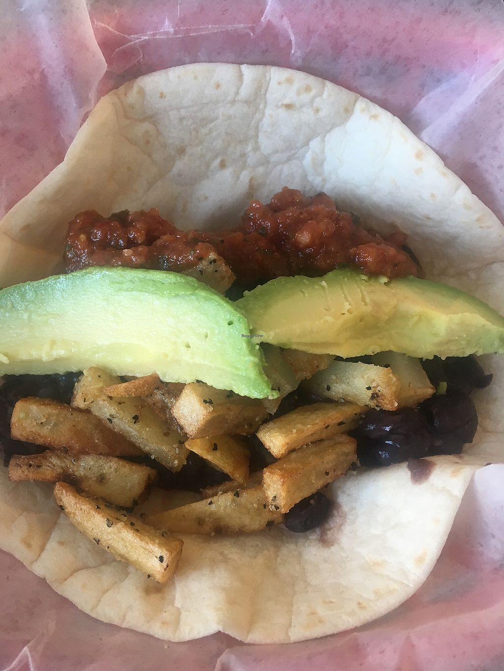 """Photo of Jo's Coffee House  by <a href=""""/members/profile/Traveling.Plant_Eater"""">Traveling.Plant_Eater</a> <br/>Build Your Own Breakfast Tacos! Beans, Potatoes and Avocado.  <br/> December 2, 2017  - <a href='/contact/abuse/image/93130/331548'>Report</a>"""