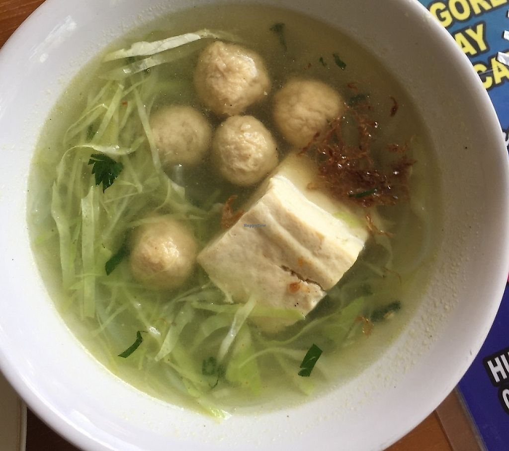 """Photo of Pande Vegetarian  by <a href=""""/members/profile/RajDollar"""">RajDollar</a> <br/>Vegan meatball soup. I added a spicy sauce to this soup after this pic  <br/> May 31, 2017  - <a href='/contact/abuse/image/93140/267466'>Report</a>"""