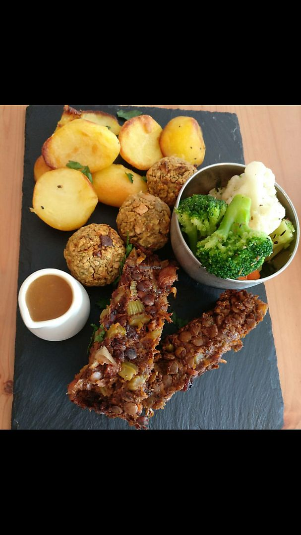 """Photo of The Honest Vegan  by <a href=""""/members/profile/thatvegancafe"""">thatvegancafe</a> <br/>Beautiful lentil walnut Sunday roast every week <br/> June 15, 2017  - <a href='/contact/abuse/image/93146/269335'>Report</a>"""