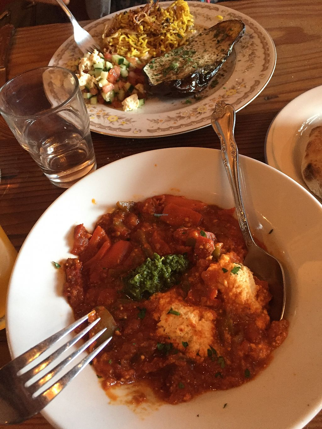 """Photo of Aviv  by <a href=""""/members/profile/carolinep"""">carolinep</a> <br/>Shakshuka + Grilled Eggplant Plate <br/> August 19, 2017  - <a href='/contact/abuse/image/93167/294146'>Report</a>"""