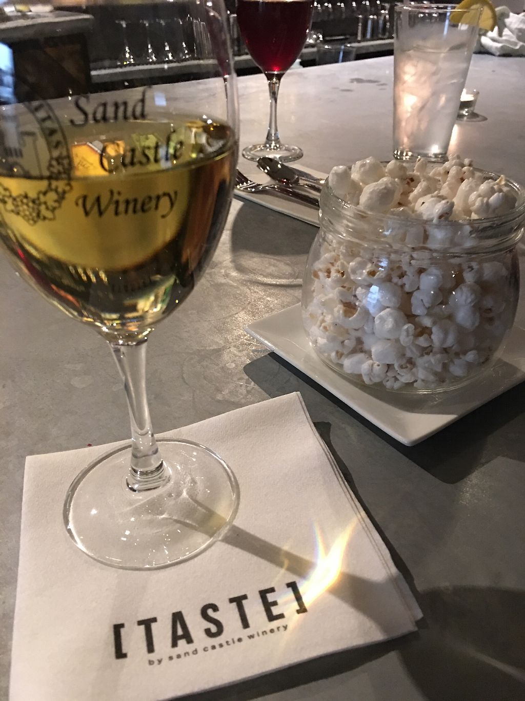 """Photo of Taste - Sand Castle Winery  by <a href=""""/members/profile/JackiN"""">JackiN</a> <br/>Lavender popcorn <br/> November 4, 2017  - <a href='/contact/abuse/image/93182/321846'>Report</a>"""