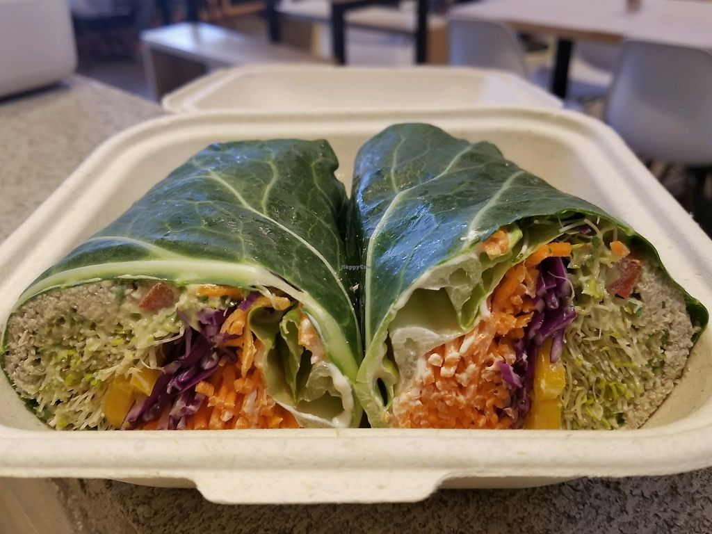 """Photo of Under the Sun Cafe  by <a href=""""/members/profile/kenvegan"""">kenvegan</a> <br/>raw vegan tuna wrap <br/> November 28, 2017  - <a href='/contact/abuse/image/93188/329904'>Report</a>"""