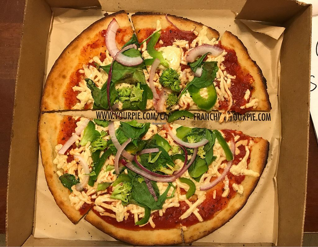 """Photo of Your Pie  by <a href=""""/members/profile/A.Vegan"""">A.Vegan</a> <br/>2nd pizza that was barely cooked  <br/> February 19, 2018  - <a href='/contact/abuse/image/93199/361277'>Report</a>"""