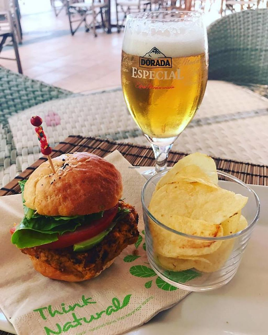 "Photo of Restaurante Delicias  by <a href=""/members/profile/community5"">community5</a> <br/>Mini vegan burger with avocado and house-made bread <br/> June 1, 2017  - <a href='/contact/abuse/image/93202/264732'>Report</a>"