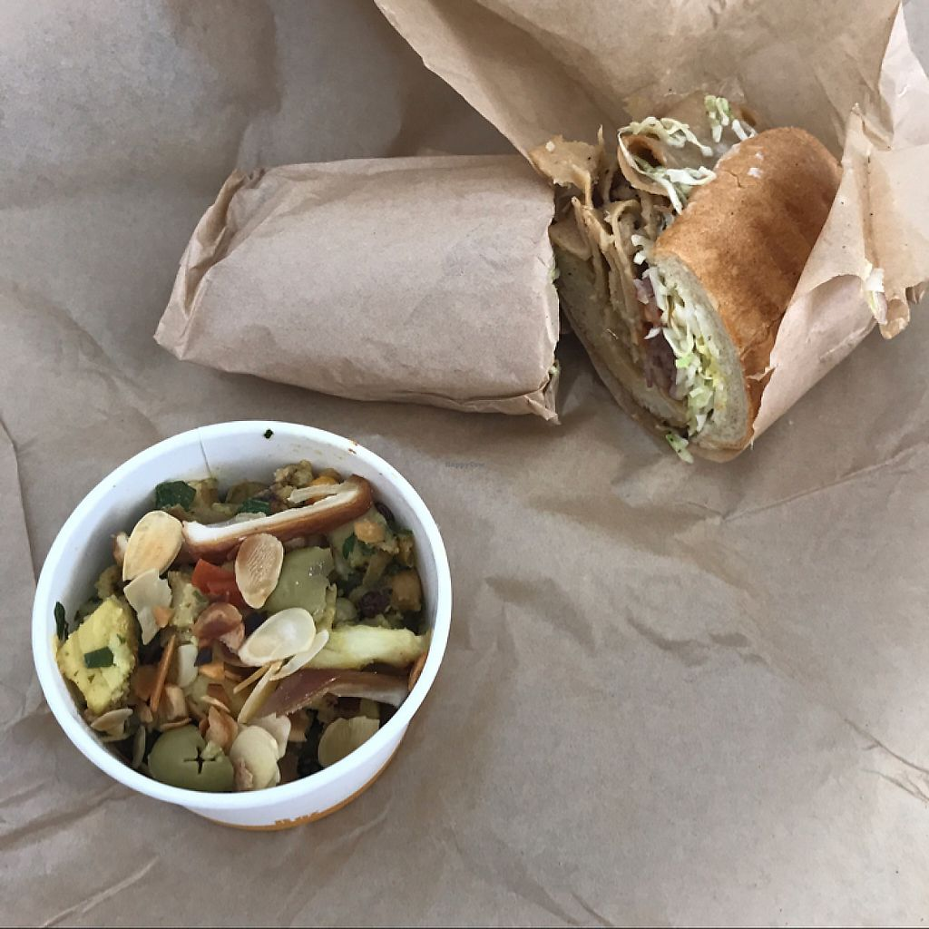 "Photo of Chef Tanya's Kitchen  by <a href=""/members/profile/nolaveggie"">nolaveggie</a> <br/>El Cubano sandwich & Moroccon Chop salad <br/> June 1, 2017  - <a href='/contact/abuse/image/93206/264906'>Report</a>"