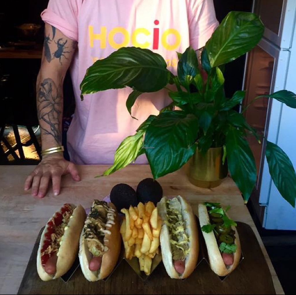 """Photo of Hocio Vegan Hot Dogs - Food Truck  by <a href=""""/members/profile/Vera%20Peres"""">Vera Peres</a> <br/>Hot-dog options <br/> June 3, 2017  - <a href='/contact/abuse/image/93296/265282'>Report</a>"""
