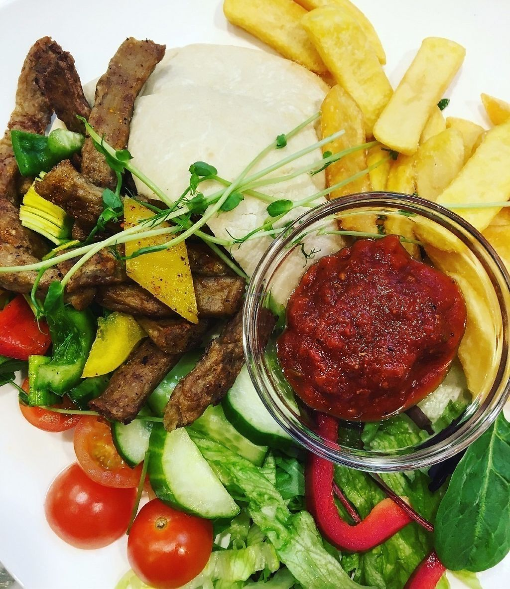 "Photo of Restaurang 4 Kök  by <a href=""/members/profile/SamiraAssaad"">SamiraAssaad</a> <br/>Beefstyle strips with fries, salsa and salad <br/> June 5, 2017  - <a href='/contact/abuse/image/93312/265965'>Report</a>"
