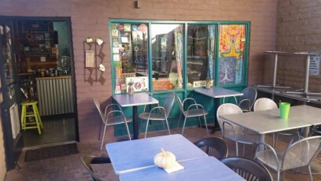 "Photo of Desert Roots Kitchen  by <a href=""/members/profile/kenvegan"">kenvegan</a> <br/>patio  <br/> January 15, 2016  - <a href='/contact/abuse/image/9333/132494'>Report</a>"