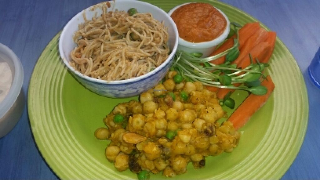 "Photo of Desert Roots Kitchen  by <a href=""/members/profile/kenvegan"">kenvegan</a> <br/>Thai - style noodles and curried garbanzos <br/> January 15, 2016  - <a href='/contact/abuse/image/9333/132497'>Report</a>"