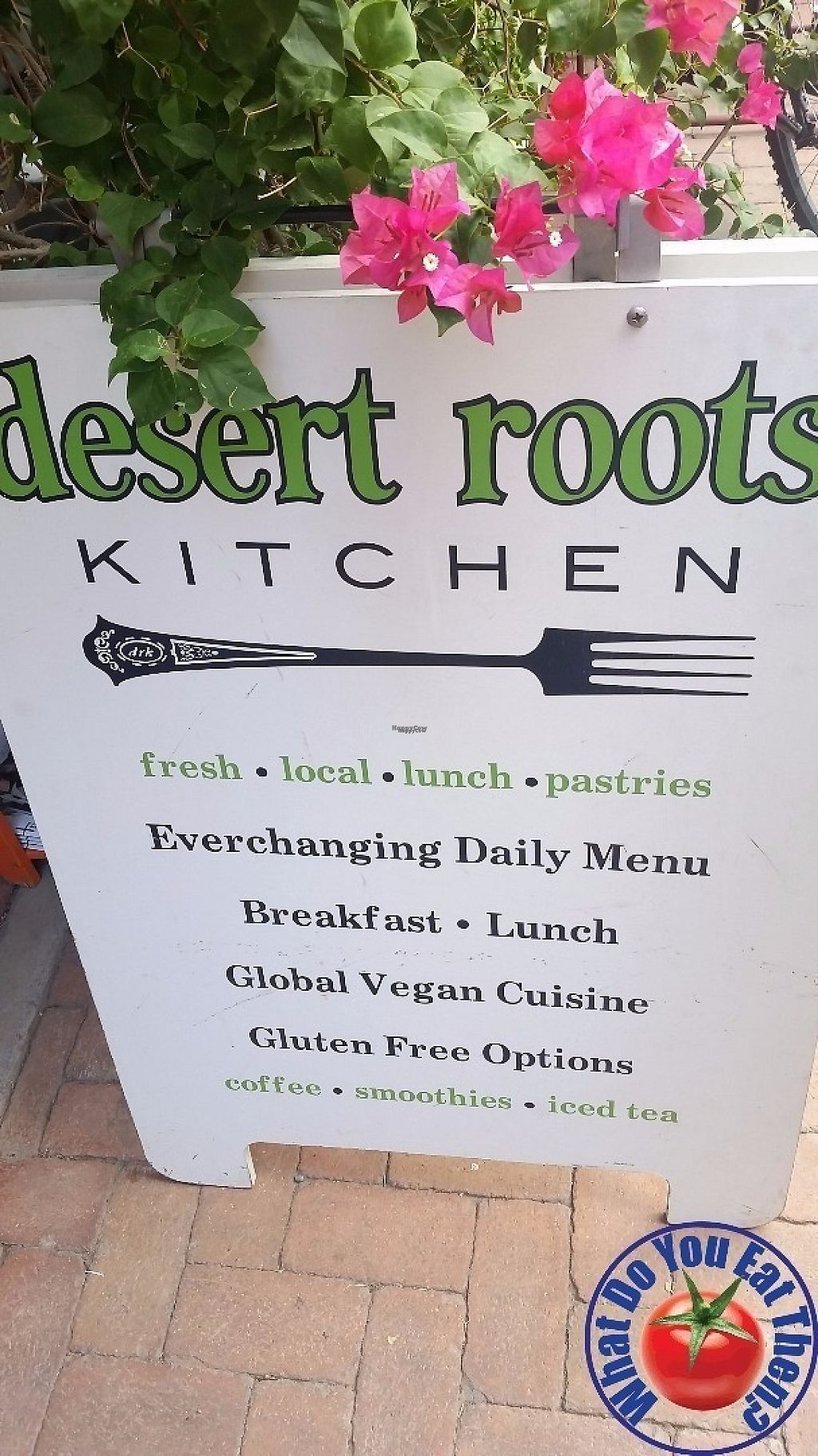 "Photo of Desert Roots Kitchen  by <a href=""/members/profile/WhatDoYouEatThen"">WhatDoYouEatThen</a> <br/>the menu outside of Desert Roots Kitchen <br/> December 17, 2016  - <a href='/contact/abuse/image/9333/202147'>Report</a>"