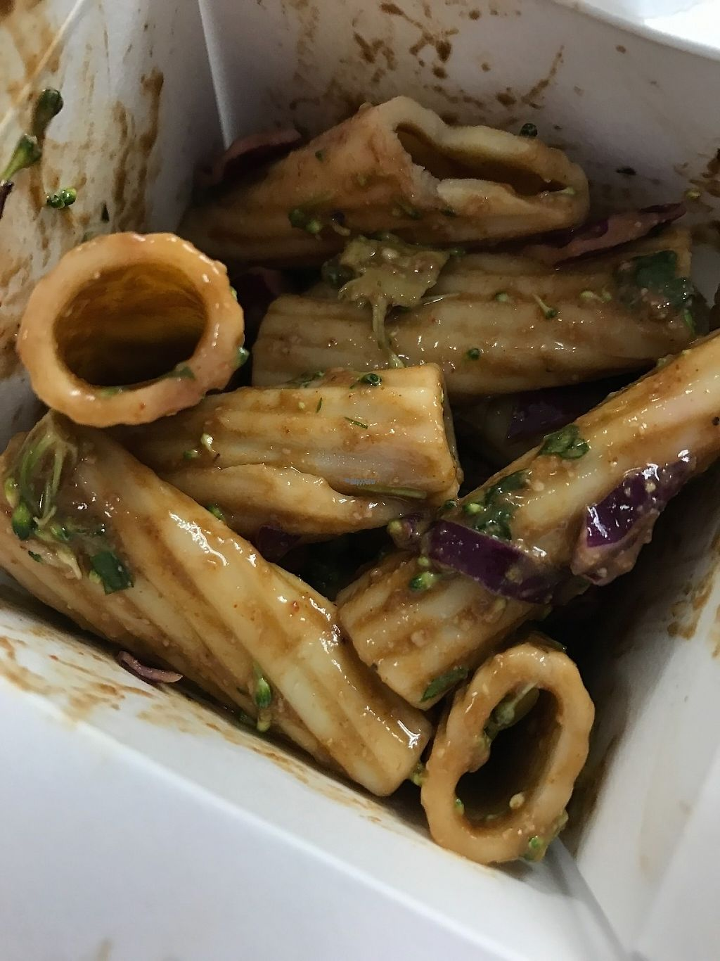 "Photo of Desert Roots Kitchen  by <a href=""/members/profile/Tigra220"">Tigra220</a> <br/>Balsamic Habanero Rigatoni pasta salad (carry out) <br/> March 10, 2017  - <a href='/contact/abuse/image/9333/234744'>Report</a>"
