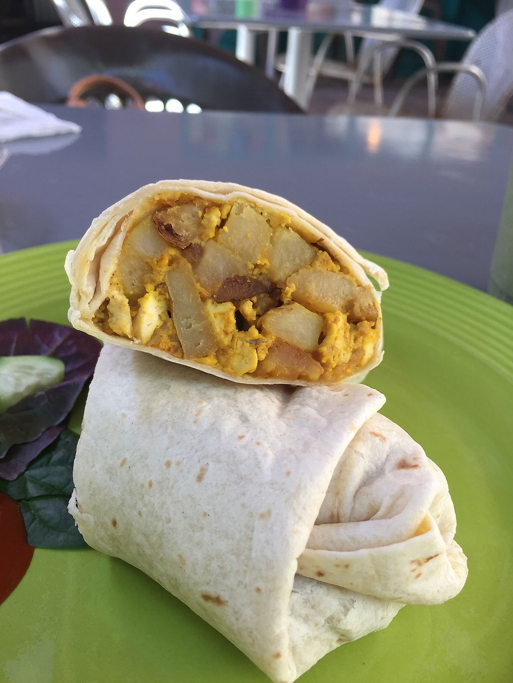 "Photo of Desert Roots Kitchen  by <a href=""/members/profile/plantbaseddfw"">plantbaseddfw</a> <br/>Break burrito  <br/> March 28, 2018  - <a href='/contact/abuse/image/9333/377113'>Report</a>"