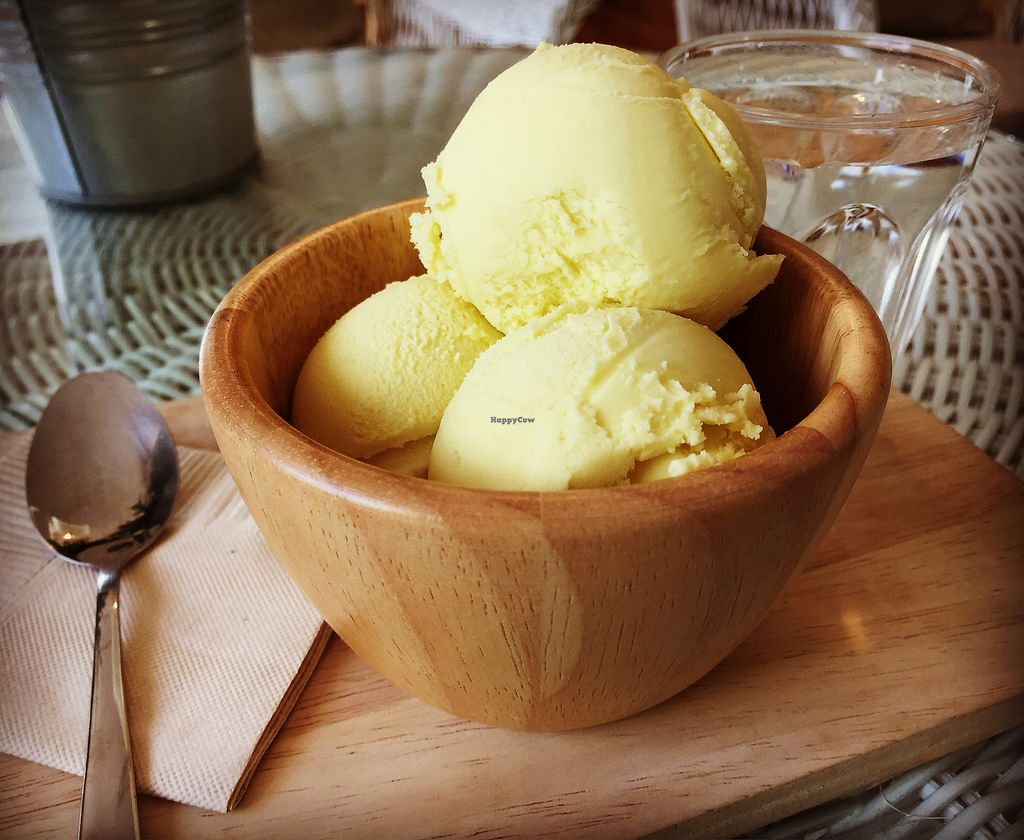 "Photo of CLOSED: Coco Much  by <a href=""/members/profile/Jrosworld"">Jrosworld</a> <br/>Passion fruit ice cream, 45 baht <br/> October 6, 2017  - <a href='/contact/abuse/image/93344/312343'>Report</a>"