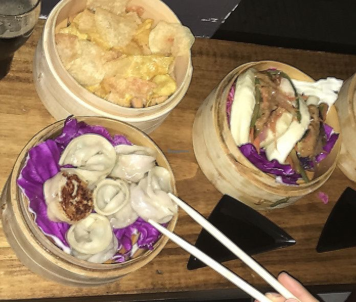 "Photo of KOI Beer & Dumplings  by <a href=""/members/profile/waiem"">waiem</a> <br/>vegan mushroom and vegetable dumplings, buns and baos <br/> June 5, 2017  - <a href='/contact/abuse/image/93366/284005'>Report</a>"