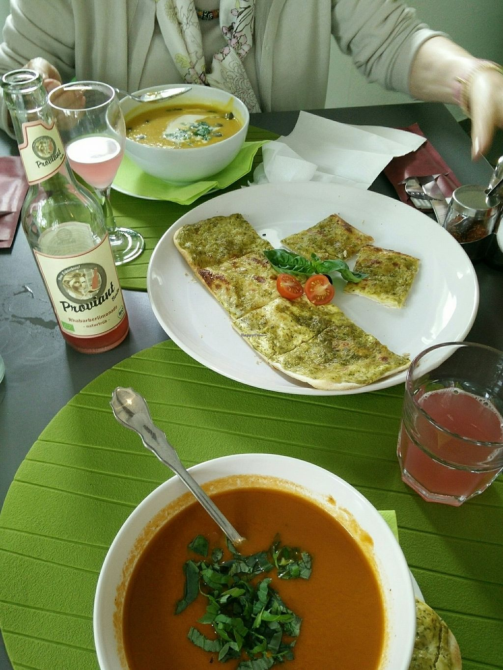 "Photo of Apfel  by <a href=""/members/profile/AnnaFaltin"">AnnaFaltin</a> <br/>pumpkin and tomato soup with german flammkuchen <br/> August 18, 2017  - <a href='/contact/abuse/image/93368/294051'>Report</a>"