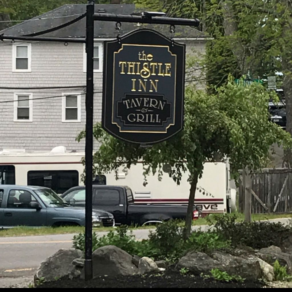 """Photo of The Thistle Inn  by <a href=""""/members/profile/Sarah%20P"""">Sarah P</a> <br/>sidewalk sign <br/> June 5, 2017  - <a href='/contact/abuse/image/93395/265994'>Report</a>"""