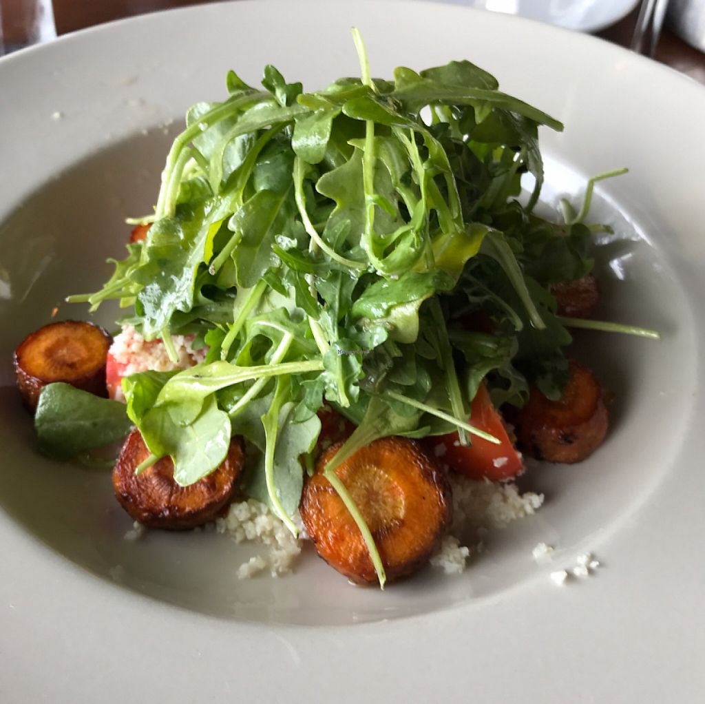 """Photo of Mine Oyster  by <a href=""""/members/profile/Sarah%20P"""">Sarah P</a> <br/>arugula salad entree <br/> June 5, 2017  - <a href='/contact/abuse/image/93396/265989'>Report</a>"""