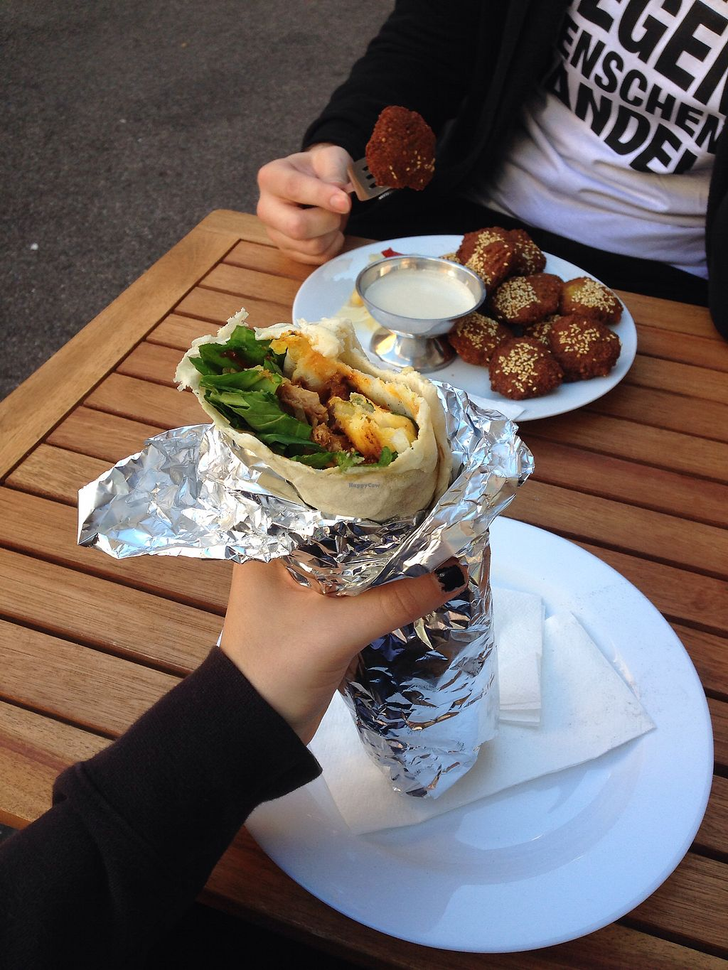 """Photo of Berlin 61  by <a href=""""/members/profile/Sushinina"""">Sushinina</a> <br/>Currywurst Wrap &Falafel <br/> October 28, 2017  - <a href='/contact/abuse/image/93398/319498'>Report</a>"""