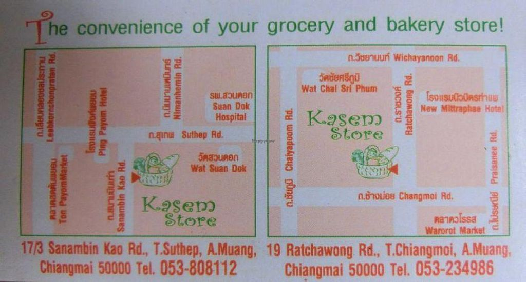 """Photo of Kasem Store  by <a href=""""/members/profile/Canamon"""">Canamon</a> <br/>business card <br/> August 16, 2014  - <a href='/contact/abuse/image/9339/77222'>Report</a>"""