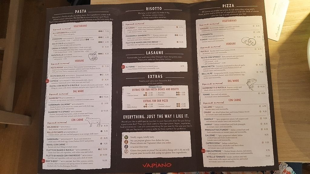 """Photo of Vapiano  by <a href=""""/members/profile/mohare22"""">mohare22</a> <br/>menu in english <br/> June 8, 2017  - <a href='/contact/abuse/image/93426/266881'>Report</a>"""