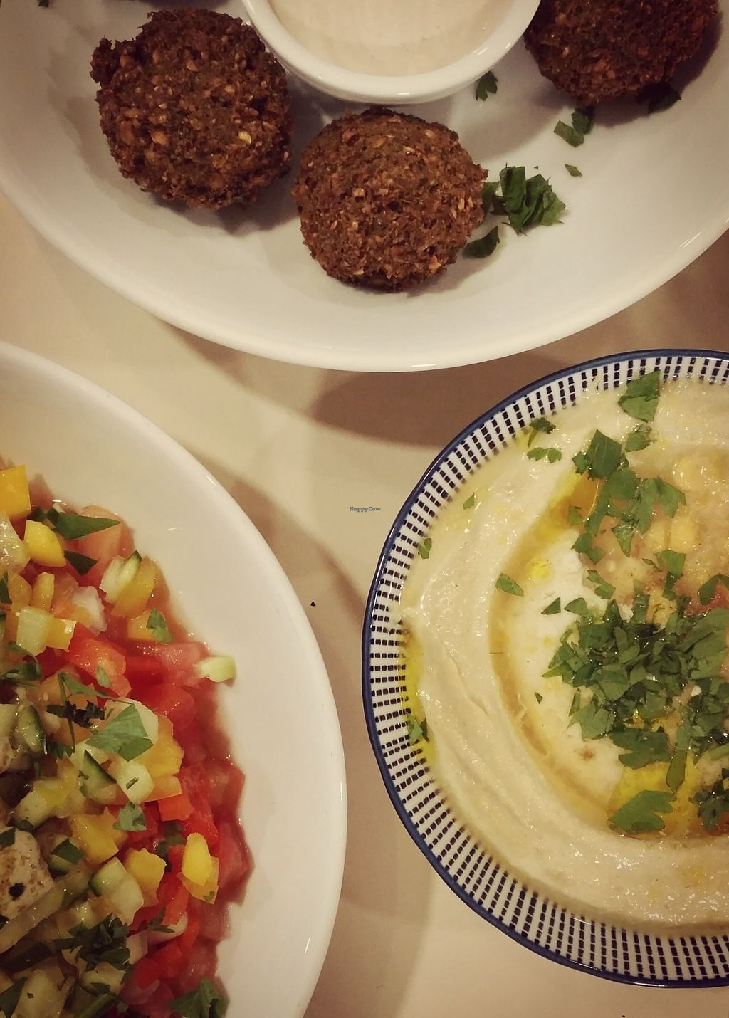 """Photo of CLOSED: The Street  by <a href=""""/members/profile/BrunoMontez"""">BrunoMontez</a> <br/>Salad, falafel and hummus <br/> October 23, 2017  - <a href='/contact/abuse/image/93432/318028'>Report</a>"""