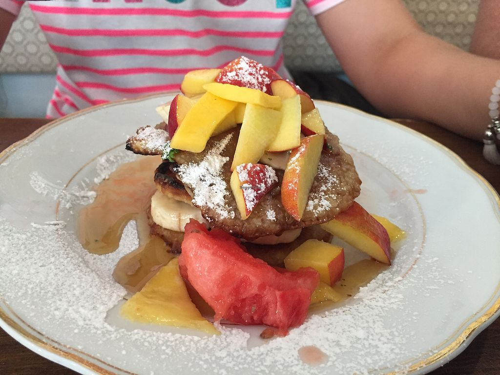 """Photo of Lieblingscafe  by <a href=""""/members/profile/macnothi"""">macnothi</a> <br/>vegan pancakes  <br/> June 16, 2017  - <a href='/contact/abuse/image/93438/269745'>Report</a>"""