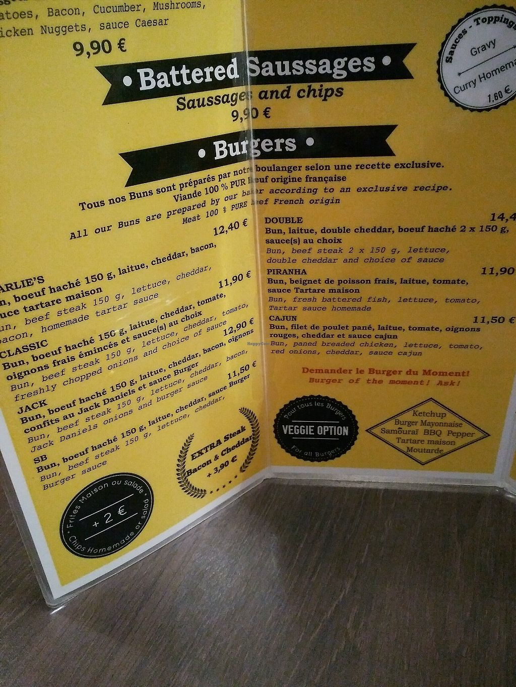 """Photo of Charlie's Burgers  by <a href=""""/members/profile/Logge"""">Logge</a> <br/>menu <br/> December 8, 2017  - <a href='/contact/abuse/image/93455/333537'>Report</a>"""