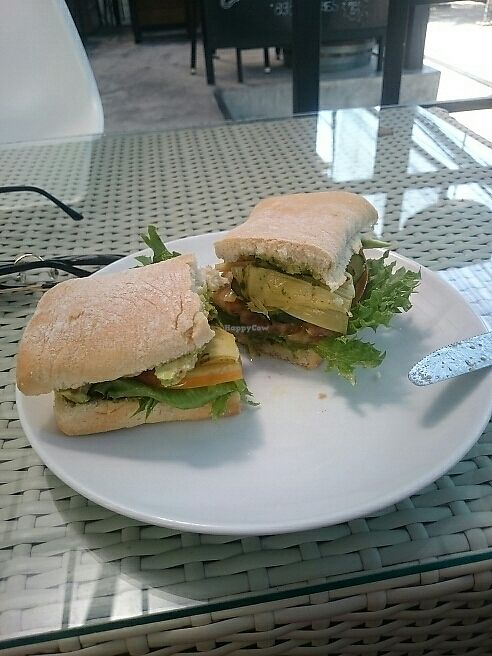 """Photo of Cafe 8.98  by <a href=""""/members/profile/thevegankat"""">thevegankat</a> <br/>Avocado artichoke sandwich with basil pesto <br/> June 13, 2017  - <a href='/contact/abuse/image/93463/268560'>Report</a>"""