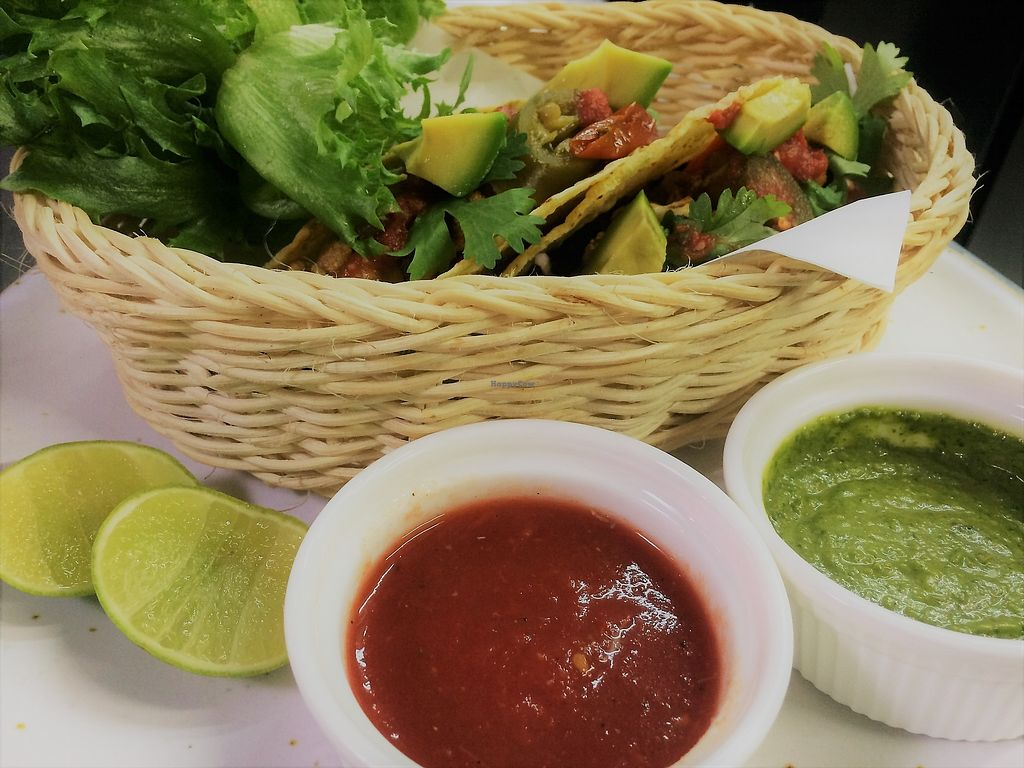 """Photo of Cafe 8.98  by <a href=""""/members/profile/jerffoodie"""">jerffoodie</a> <br/>Roasted Cauliflower & Chick Pea Tacos <br/> July 21, 2017  - <a href='/contact/abuse/image/93463/282757'>Report</a>"""