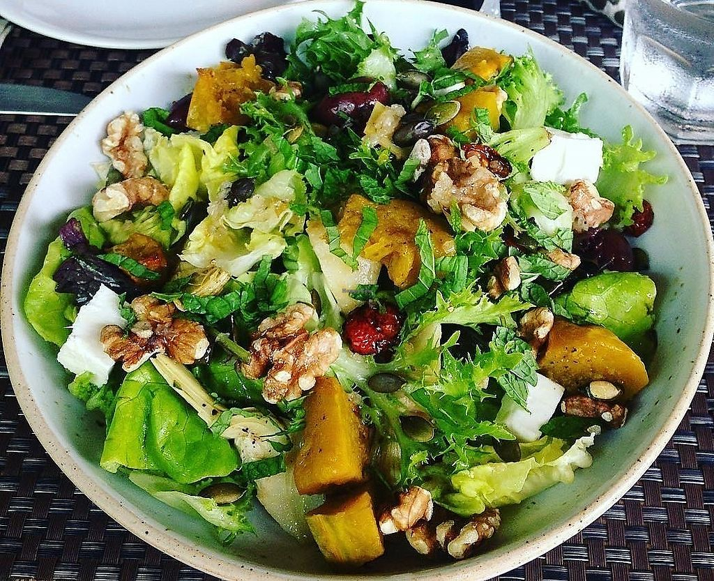 """Photo of Cafe 8.98  by <a href=""""/members/profile/jerffoodie"""">jerffoodie</a> <br/>Roasted Pumpkin, Walnut Salad <br/> July 21, 2017  - <a href='/contact/abuse/image/93463/282758'>Report</a>"""