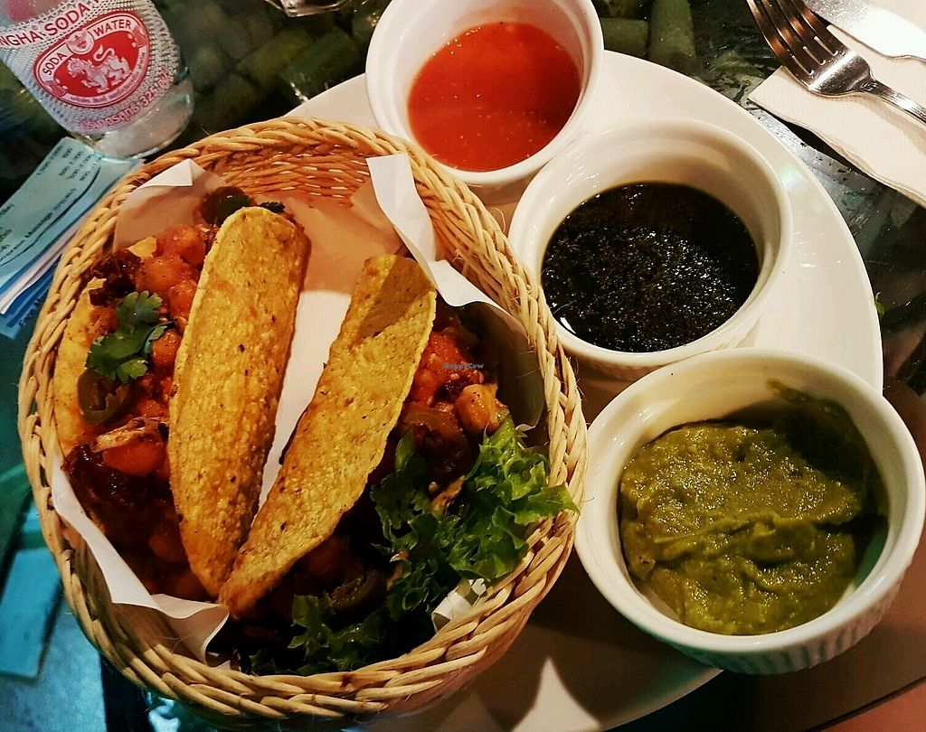 """Photo of Cafe 8.98  by <a href=""""/members/profile/SophieHevin"""">SophieHevin</a> <br/>tacos vegan  <br/> January 11, 2018  - <a href='/contact/abuse/image/93463/345346'>Report</a>"""