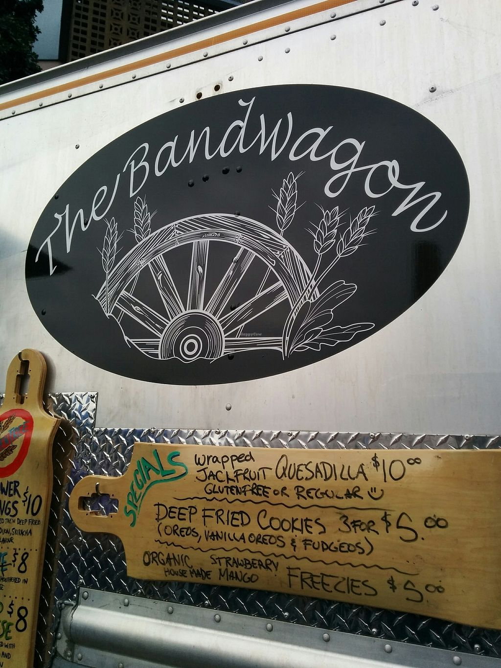 "Photo of The Bandwagon Food Truck - temporarily closed  by <a href=""/members/profile/CLRtraveller"">CLRtraveller</a> <br/>more of the menu at Vegtoria 2017 <br/> July 24, 2017  - <a href='/contact/abuse/image/93464/284372'>Report</a>"