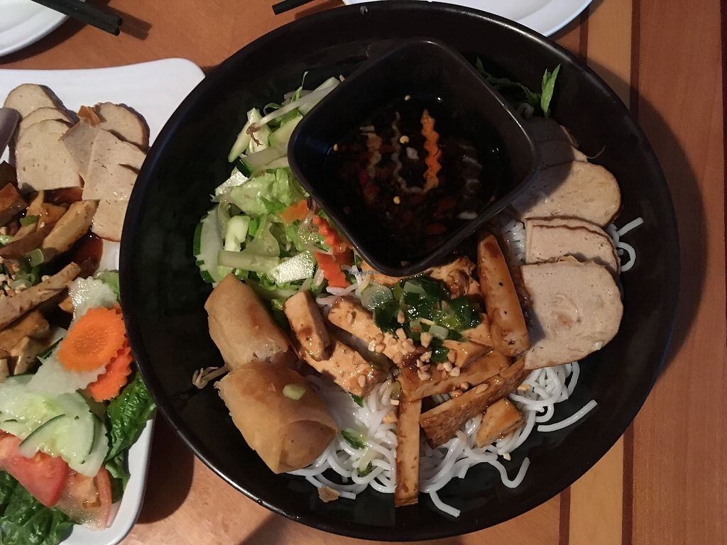 """Photo of Tan Lac Vien Vietnamese Bistro  by <a href=""""/members/profile/ecoRDN"""">ecoRDN</a> <br/>Bun Vegan Tan Lac Vien - Squirrel Hill Photo by ecoRDN - ecoRDN.com <br/> July 16, 2017  - <a href='/contact/abuse/image/93466/280991'>Report</a>"""