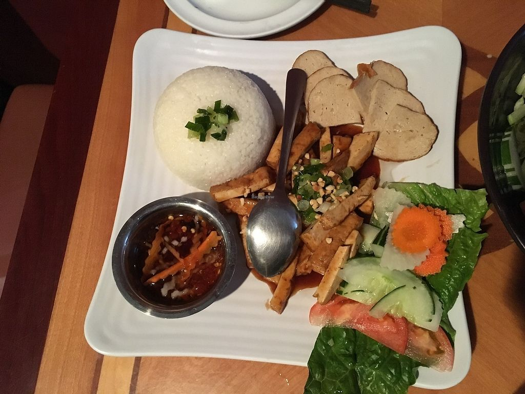 """Photo of Tan Lac Vien Vietnamese Bistro  by <a href=""""/members/profile/ecoRDN"""">ecoRDN</a> <br/>Vegan Broken Rice Tan Lac Vien - Squirrel Hill Photo by ecoRDN - ecoRDN.com <br/> July 16, 2017  - <a href='/contact/abuse/image/93466/280992'>Report</a>"""