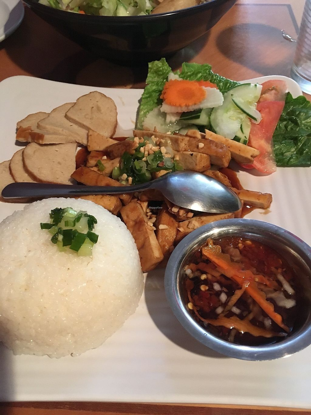 """Photo of Tan Lac Vien Vietnamese Bistro  by <a href=""""/members/profile/ecoRDN"""">ecoRDN</a> <br/>Vegan Broken Rice Tan Lac Vien - Squirrel Hill Photo by ecoRDN - ecoRDN.com <br/> July 16, 2017  - <a href='/contact/abuse/image/93466/280993'>Report</a>"""