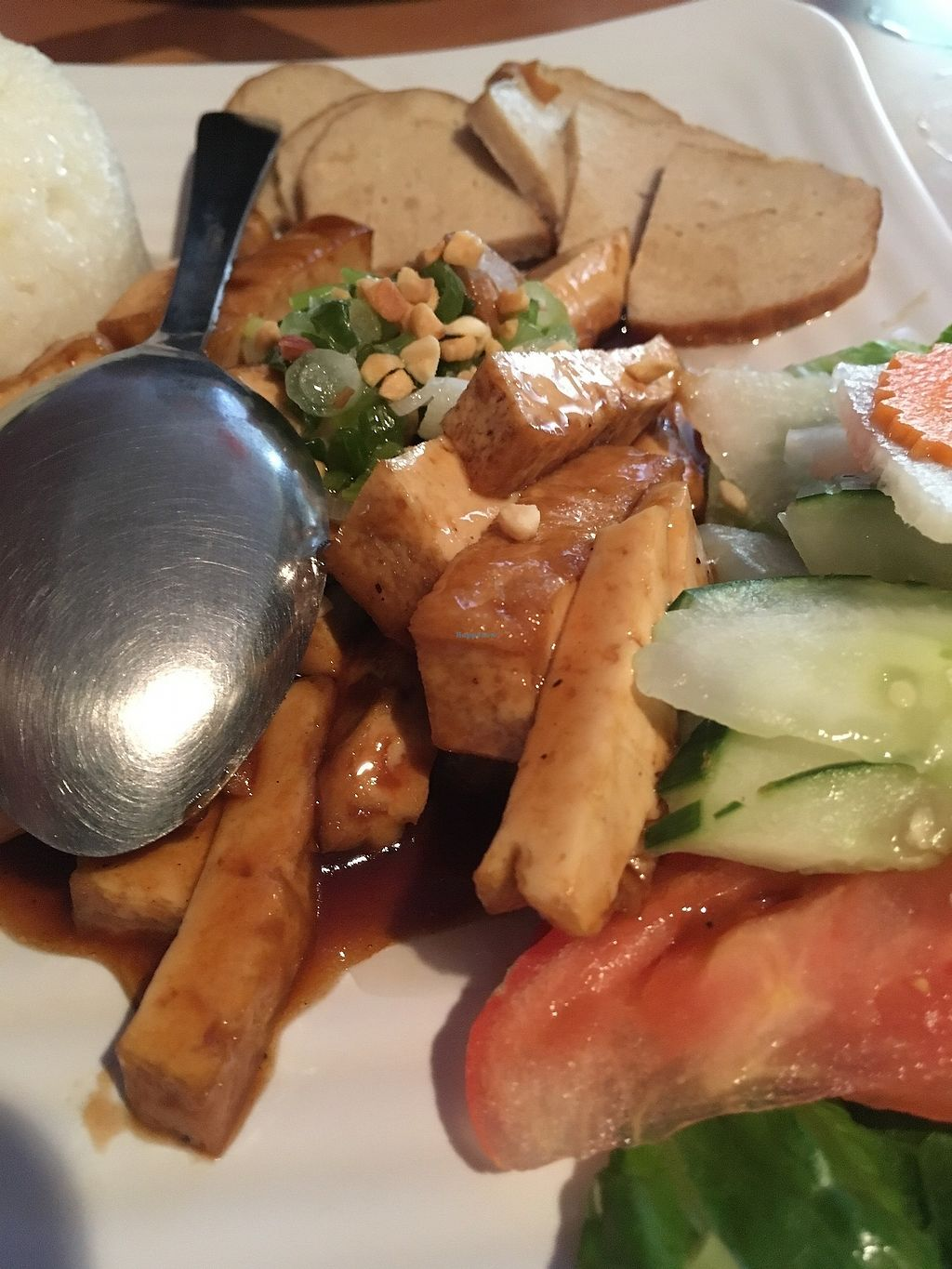 """Photo of Tan Lac Vien Vietnamese Bistro  by <a href=""""/members/profile/ecoRDN"""">ecoRDN</a> <br/>Vegan Broken Rice Tan Lac Vien - Squirrel Hill Photo by ecoRDN - ecoRDN.com <br/> July 16, 2017  - <a href='/contact/abuse/image/93466/280994'>Report</a>"""