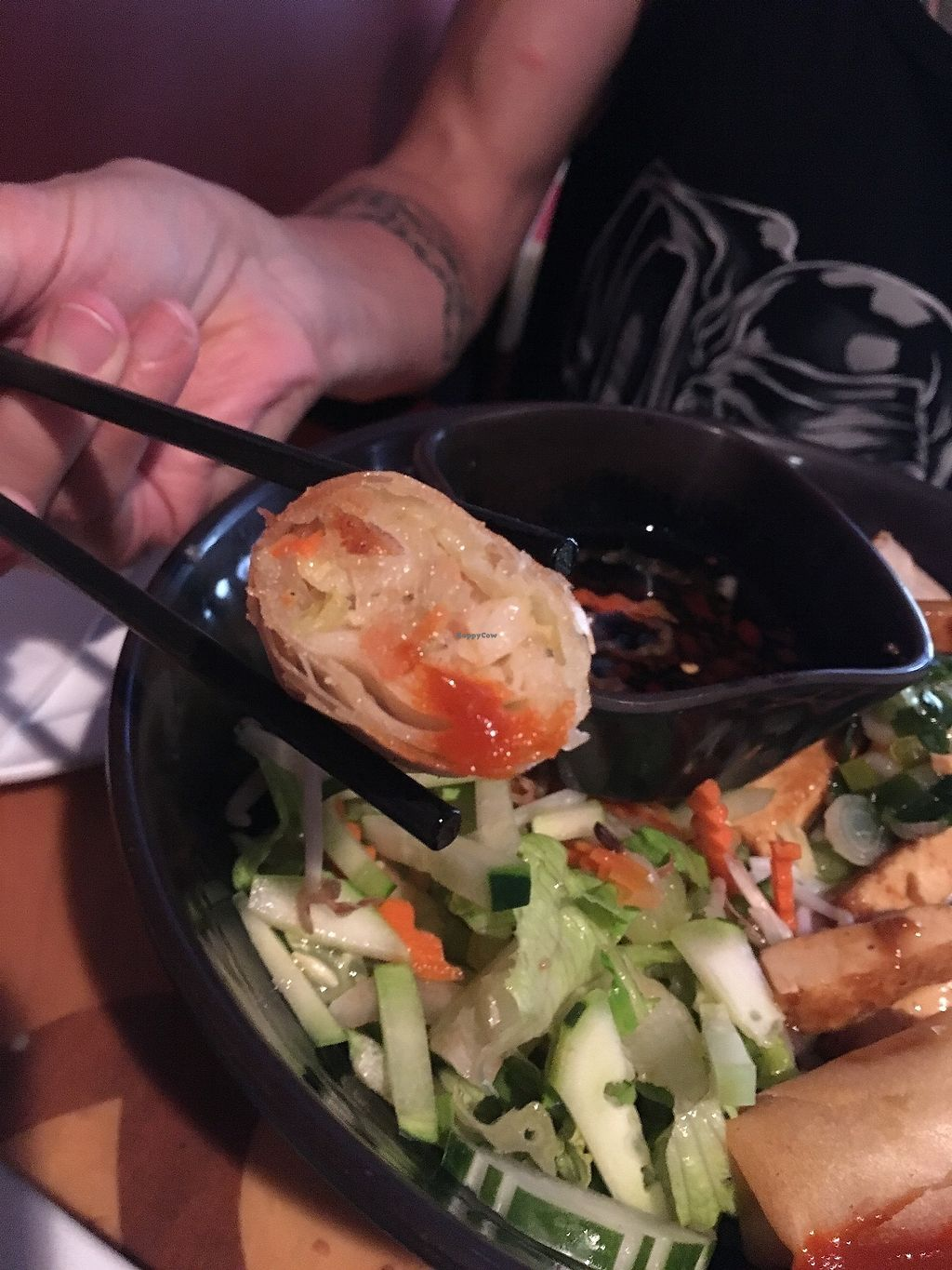 """Photo of Tan Lac Vien Vietnamese Bistro  by <a href=""""/members/profile/ecoRDN"""">ecoRDN</a> <br/>Bun Vegan Spring Roll Tan Lac Vien - Squirrel Hill Photo by ecoRDN - ecoRDN.com <br/> July 16, 2017  - <a href='/contact/abuse/image/93466/280995'>Report</a>"""