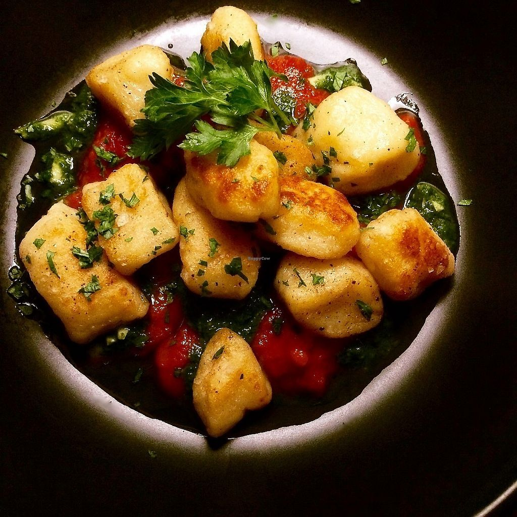 """Photo of The Grey Duckling  by <a href=""""/members/profile/Lorel"""">Lorel</a> <br/>Potato Gnocchi with Pesto and Tomato Concise <br/> June 13, 2017  - <a href='/contact/abuse/image/93471/268540'>Report</a>"""
