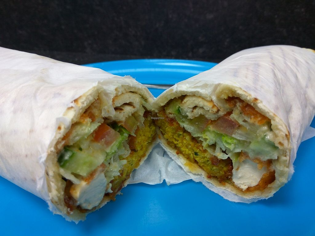 """Photo of Little Aladdin  by <a href=""""/members/profile/TrixieFirecracker"""">TrixieFirecracker</a> <br/>Tofu + falafel mix on a naan <br/> November 6, 2017  - <a href='/contact/abuse/image/93477/322589'>Report</a>"""