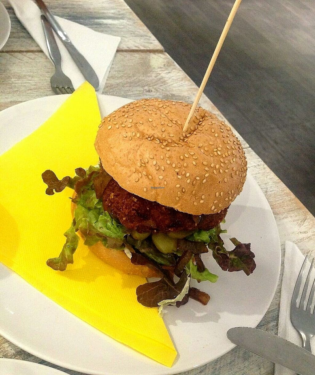 """Photo of Vegan Ibiza  by <a href=""""/members/profile/wyrd"""">wyrd</a> <br/>Chickpeas burger <br/> August 24, 2017  - <a href='/contact/abuse/image/93478/296833'>Report</a>"""