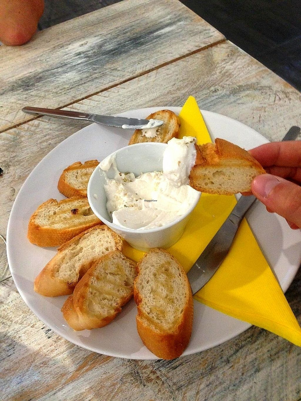 """Photo of Vegan Ibiza  by <a href=""""/members/profile/wyrd"""">wyrd</a> <br/>Bread with garlic sauce <br/> August 24, 2017  - <a href='/contact/abuse/image/93478/296836'>Report</a>"""