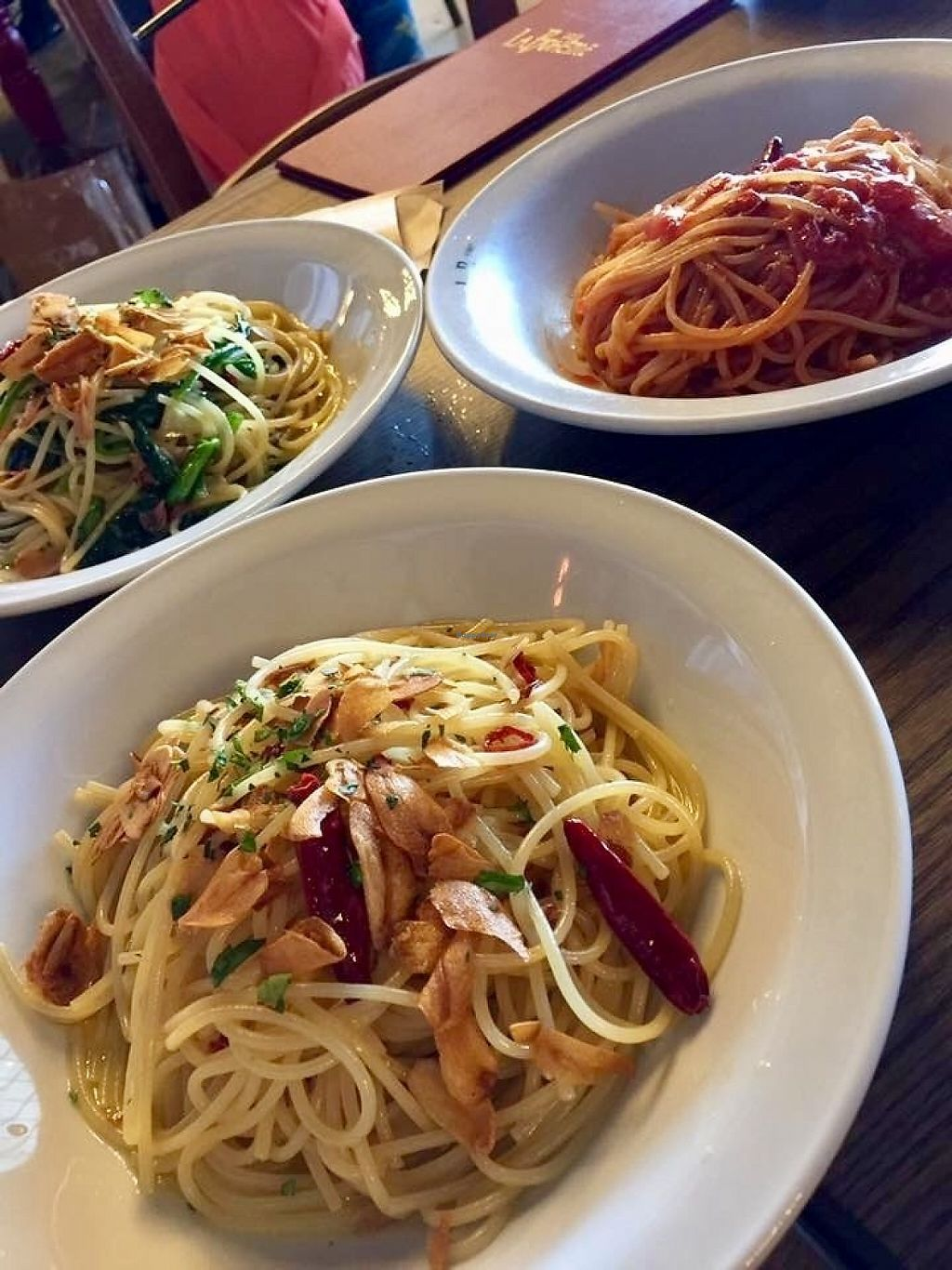 """Photo of Cafe La Boheme - G-Zone  by <a href=""""/members/profile/paulkates"""">paulkates</a> <br/>Vegan pasta <br/> June 7, 2017  - <a href='/contact/abuse/image/93479/266521'>Report</a>"""