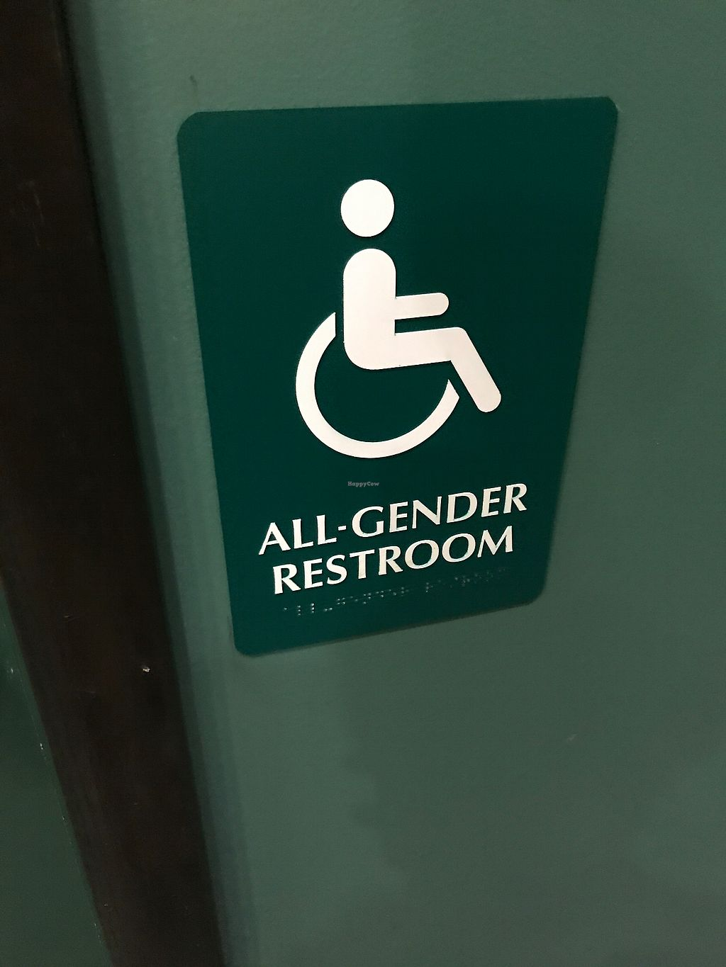 """Photo of Fair Grounds Coffeehouse  by <a href=""""/members/profile/farrahfrye"""">farrahfrye</a> <br/>non-binary gendered bathrooms! <br/> July 9, 2017  - <a href='/contact/abuse/image/9350/278339'>Report</a>"""