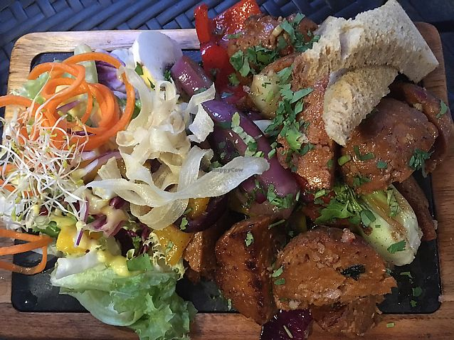 "Photo of Andino Gastrobar  by <a href=""/members/profile/JessicaAllens"">JessicaAllens</a> <br/>soyrizo scewers clearly labeled as vegan! <br/> June 15, 2017  - <a href='/contact/abuse/image/93527/269498'>Report</a>"