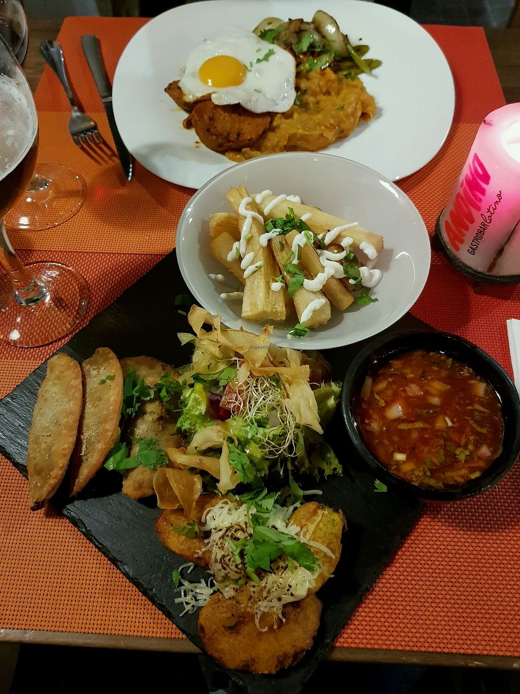 "Photo of Andino Gastrobar  by <a href=""/members/profile/barbicanben"">barbicanben</a> <br/>Vegan tapas options and vegetarian main <br/> October 22, 2017  - <a href='/contact/abuse/image/93527/317763'>Report</a>"