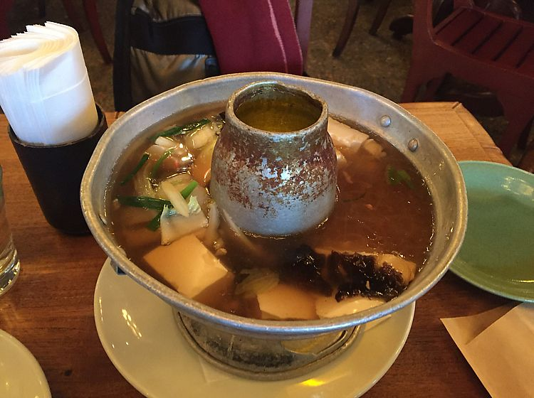 """Photo of Monsoon Cafe  by <a href=""""/members/profile/KazushigeTani"""">KazushigeTani</a> <br/>tofu and vermicelli noodle soup(Regular:¥850). You can also choose a half size(¥450). Ask to make it vegan <br/> December 5, 2017  - <a href='/contact/abuse/image/93539/332406'>Report</a>"""