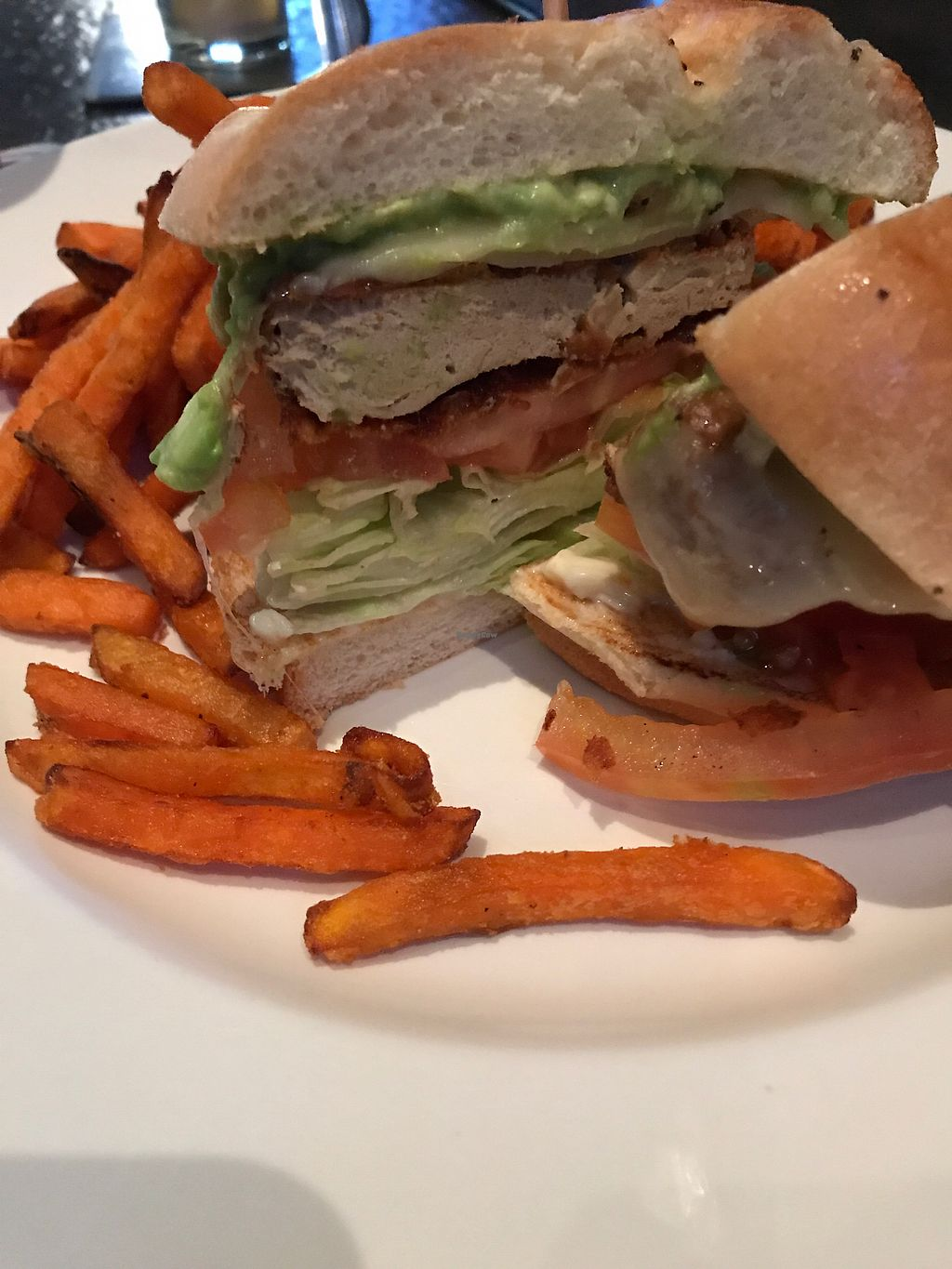 """Photo of Yard House  by <a href=""""/members/profile/sjberrest"""">sjberrest</a> <br/>Crispy Chik'n and Avocado Burger  <br/> December 28, 2017  - <a href='/contact/abuse/image/93566/339834'>Report</a>"""