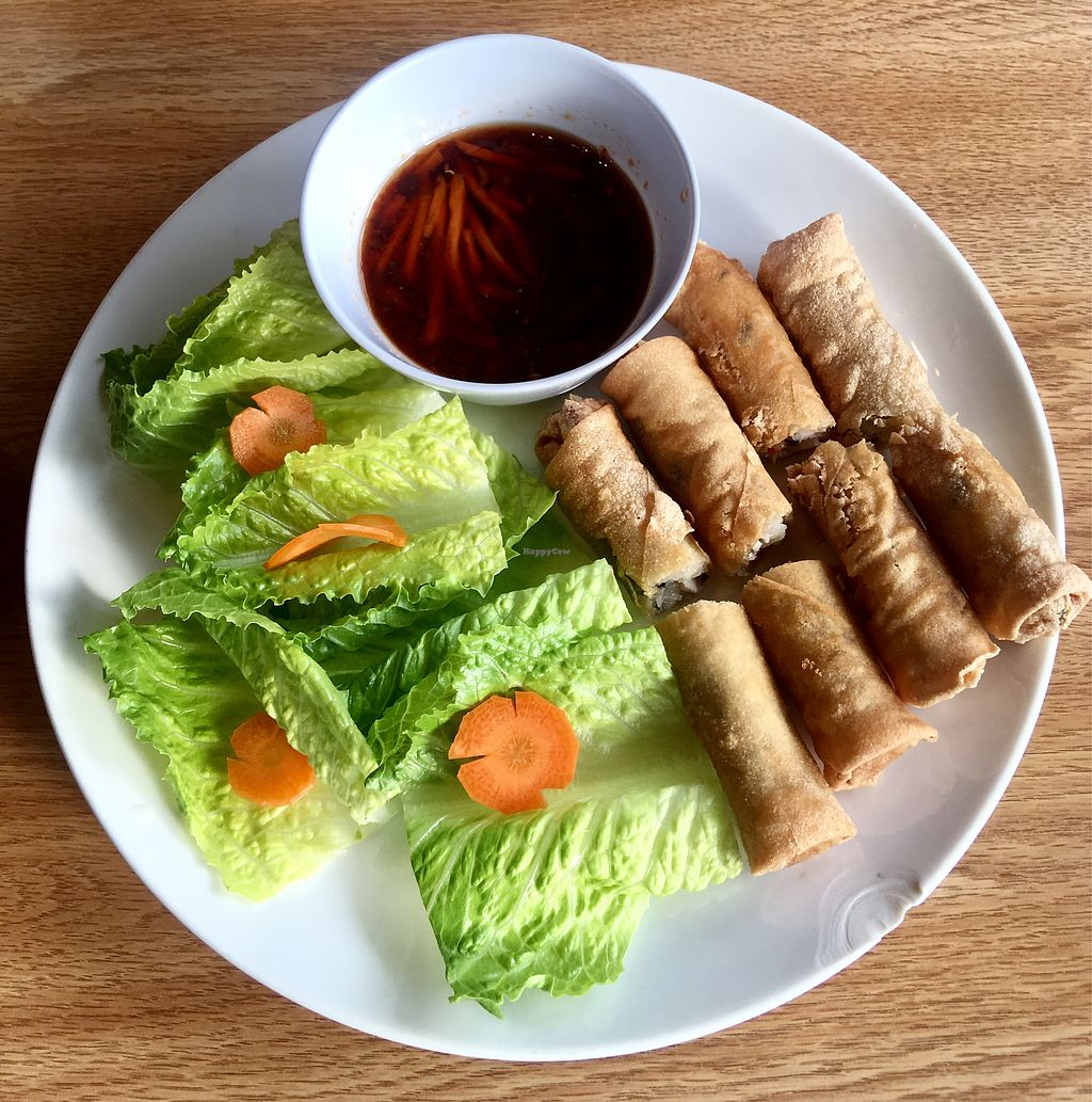 """Photo of 208 Pho & Vegan  by <a href=""""/members/profile/ChereseTarter"""">ChereseTarter</a> <br/>Christy Egg Rolls  <br/> March 24, 2018  - <a href='/contact/abuse/image/93583/375040'>Report</a>"""
