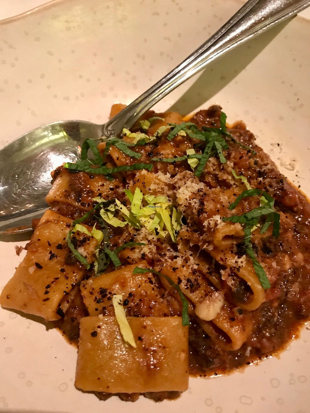 "Photo of abcV  by <a href=""/members/profile/Karenk"">Karenk</a> <br/>mushroom walnut bolognese - Wow - Amazing fresh and flavorful.  <br/> February 9, 2018  - <a href='/contact/abuse/image/93588/356866'>Report</a>"